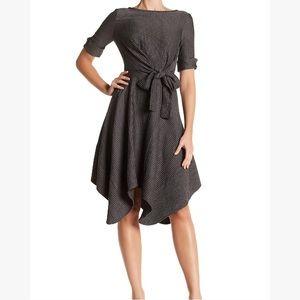 "Eva Franco ""Ezra"" black/white stripe dress 4 NWT"